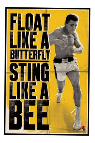 rubber sting magazines muhammad ali float like a butterfly sting like a bee poster