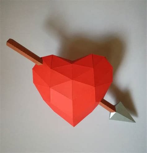 paper craft hearts crossed free paper craft