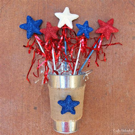 4th of july crafts for glittery wands a 4th of july craft