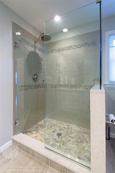 bathroom remodel shower stall shower stall remodel glass shower stall river rocks