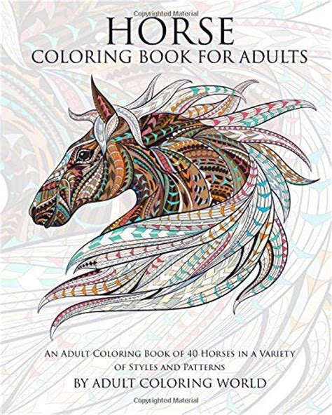 picture books for adults coloring fantast book of 40 horses animal