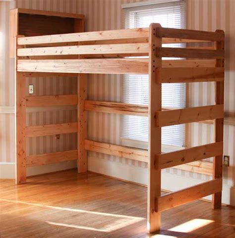 wood loft bunk bed loft bed woodworking plans bed plans diy blueprints