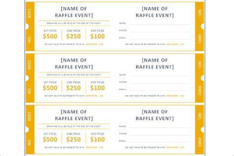 raffle ticket template free word pdf format download