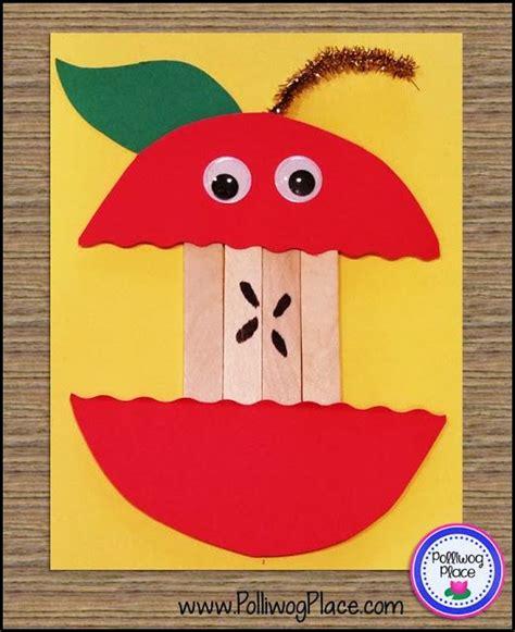 september craft ideas for september apple craft craft stick apple teaching