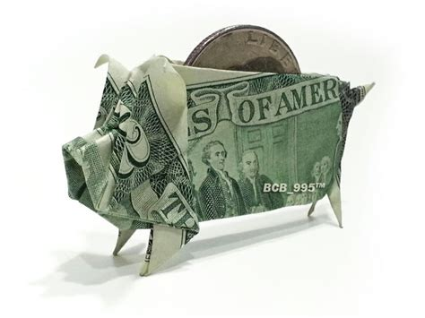 how to make an origami out of money 2 bill piggy bank money origami origami