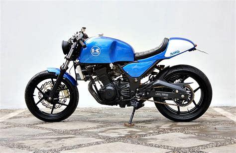 Cafe Racer Style Modifikasi by Modifikasi Motor Kawasaki 250 Cafe Racer Style