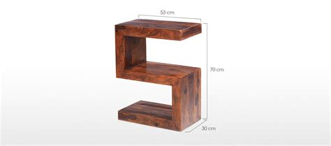 bedside table dimensions cube sheesham side table quercus living