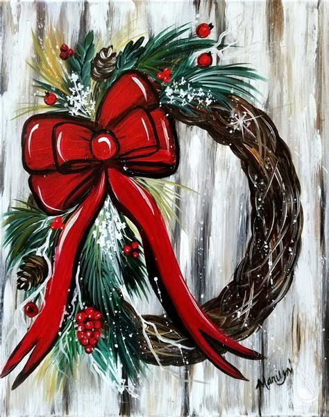 paint with a twist lewisville not shabby wreath new wednesday