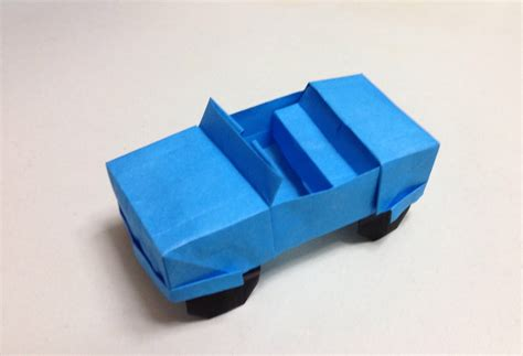 origami 3d car how to make a origami jeep car