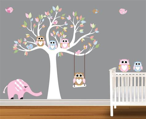 nursery tree stickers for walls baby wall decals nursery wall decals birch trees