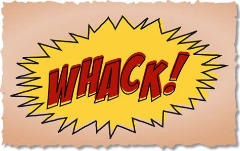 comic book picture effect clipart whack comic book sound effect
