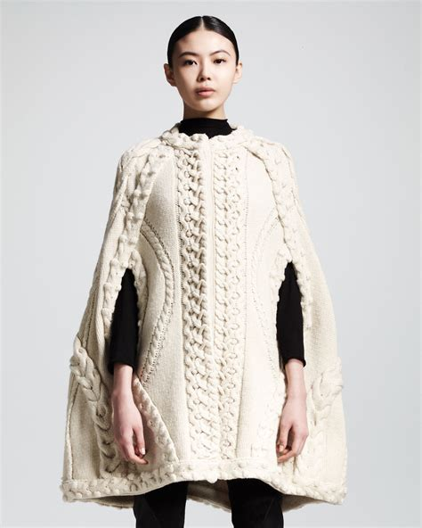 knitted cape mcqueen cabled cape inspiration knit