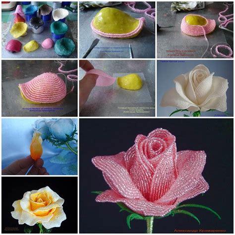 how to make from petals diy beautiful beaded petals
