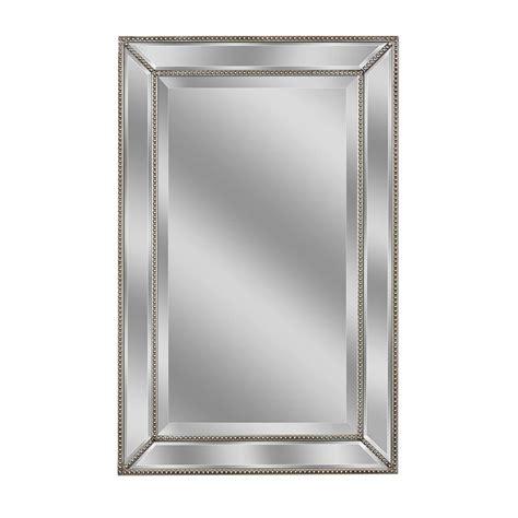 beaded mirror deco mirror 32 in l x 20 in w metro beaded mirror in