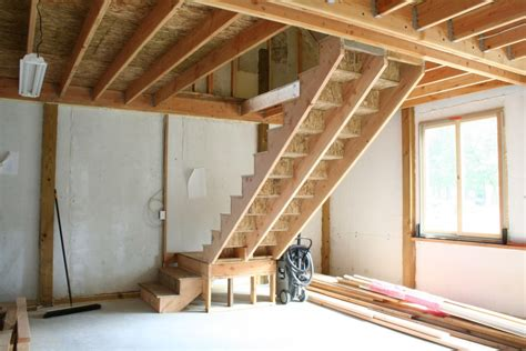 how to build basement stairs s barn building basic stairs homebuilding