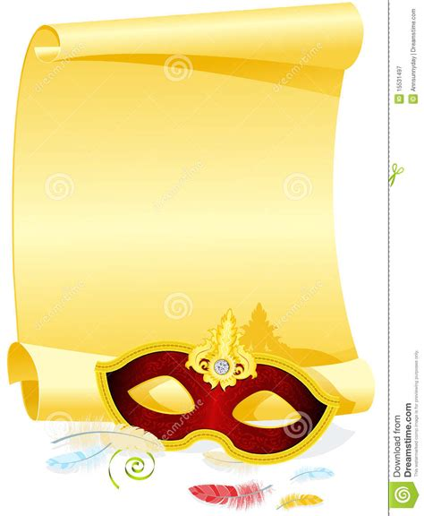 masquerade invitation royalty free stock photography