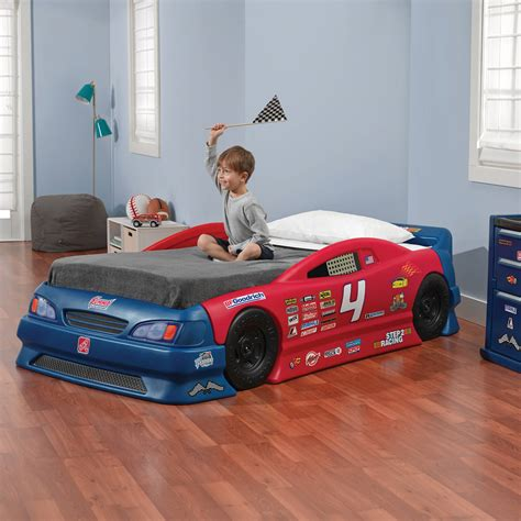 car toddler bed set step2 wheels toddler to race car bed blue