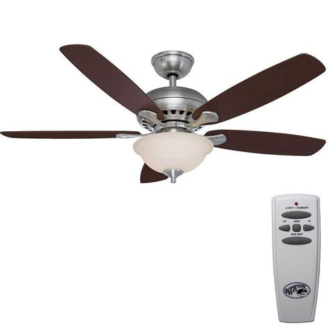 ceiling fans with remote hton bay southwind 52 in brushed nickel ceiling fan