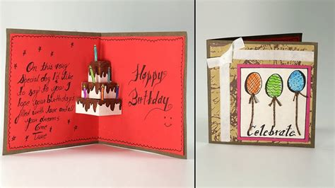 how do you make a birthday card handmade birthday greeting card cake pop up birthday