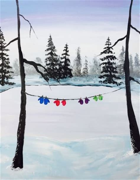 paint nite winter 17 best ideas about winter painting on tree