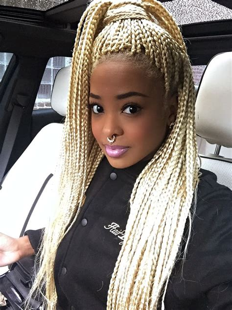 micro braids ombre hair blonde box braids afro hairstyle black girl stylin