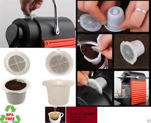 Refillable Reusable Nespresso Capsule Set Built in Stainless Steel Filter   eBay