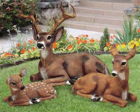 outdoor animals fawn baby deer outdoor garden statue animal lawn decor