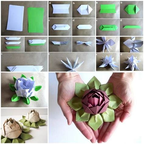 how to make an origami lotus how to make origami lotus flower pictures photos and