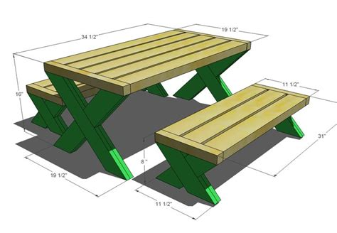 modern woodworking plans picnic table plans woodworking projects plans