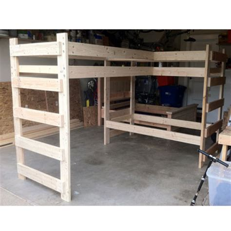 l shaped loft bunk bed any size l shaped loft bunk bed 1000 lbs wt capacity