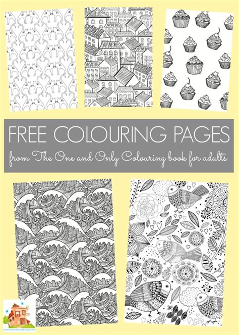 picture books for adults free colouring pages from the one and only colouring book