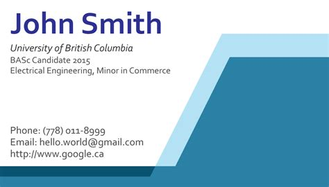 how to make free business cards blue 01 front business cards ideas