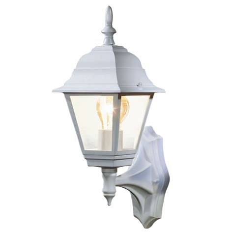 outdoor lights b q b q penarven outdoor wall light in white wall light