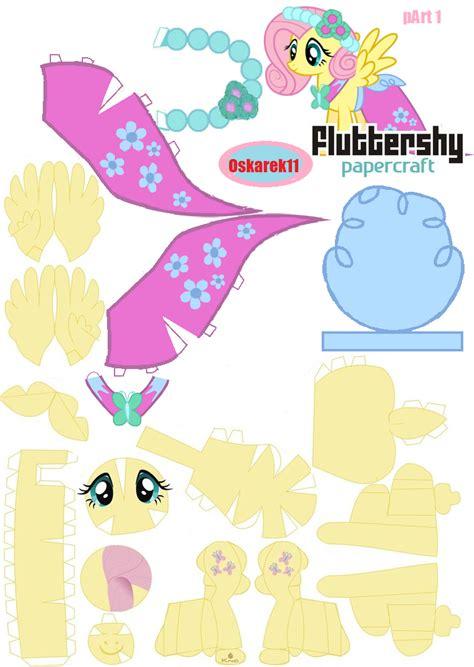 my pony paper crafts papercraft fluttershy royal wedding part 1 by oskarek11