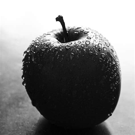 apple black an apple a world of black and white