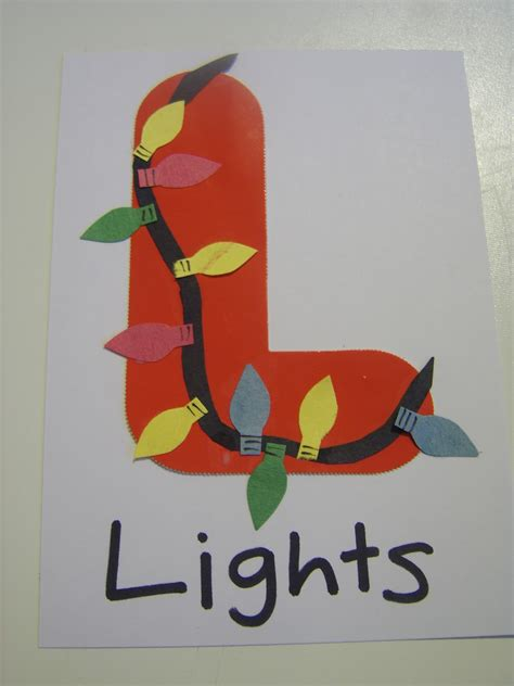l craft for family l is for lights