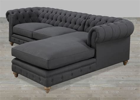grey sectional sofas grey tufted sectional sofa pigment gus modern bi