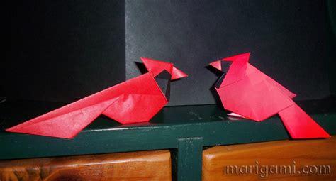 origami cardinal origami cardinal 171 embroidery origami