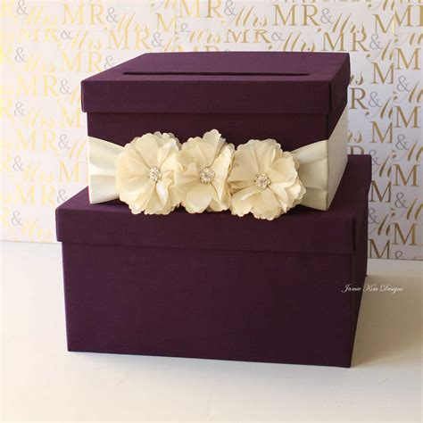 wedding card boxes to make purple tiered wedding card box 13 gorgeous wedding card