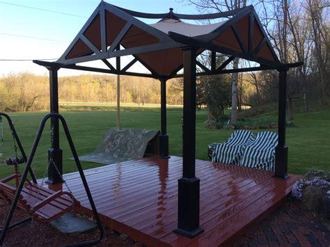 lowes pergola canopy lowes garden treasure matte black pergola canopy solution