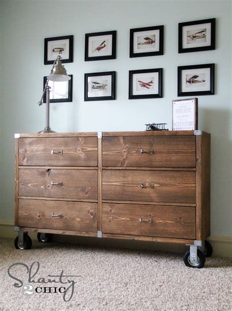 dresser diy diy furniture wood dresser with wheels shanty 2 chic