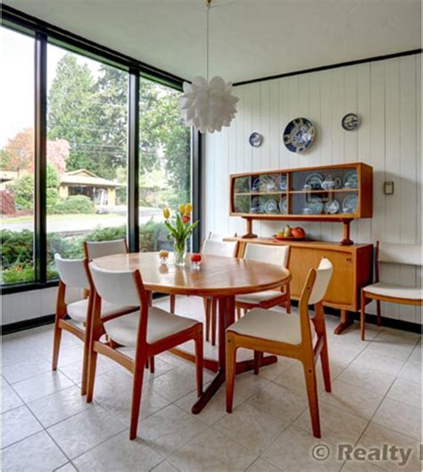 mid century modern dining room mid century modern portland time capsule house beautiful