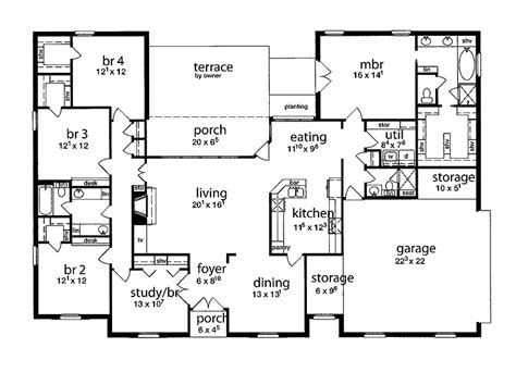 house plans 5 bedrooms floor plan 5 bedrooms single story five bedroom tudor home in 2018 house plans