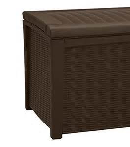 plastic patio storage boxes keter borneo plastic deck storage container box outdoor patio garden furniture 110 gal brown