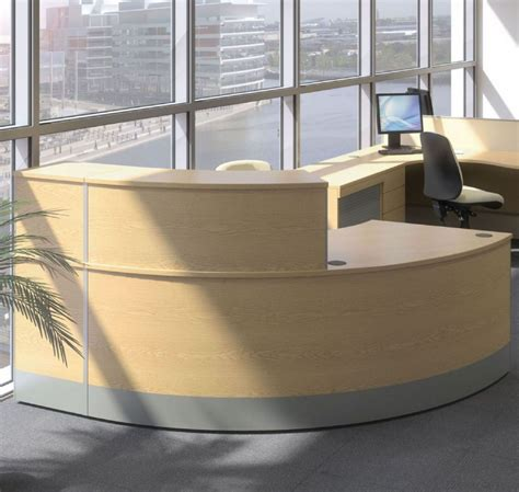 curved office desk furniture curved reception desk reception desk with wooden finish
