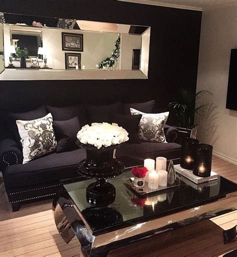 black and living room best 25 black decor ideas on black sofa