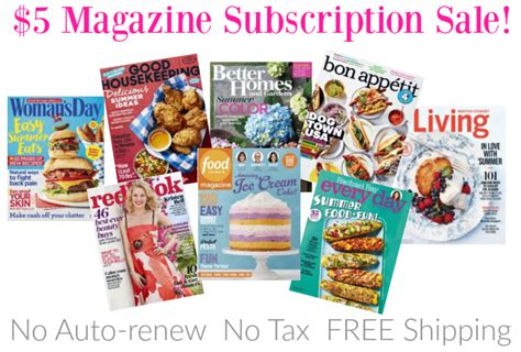 magazine subscription 5 magazine subscription food network martha stewart