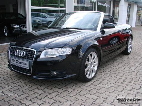 2008 Audi A4 Convertible by 2008 Audi A4 Convertible S Line Quattro 3 2 Fsi Leather