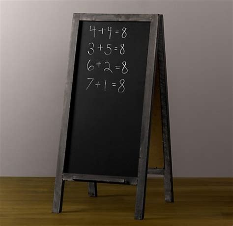 chalkboard paint easel 1000 images about sidewalk signs on