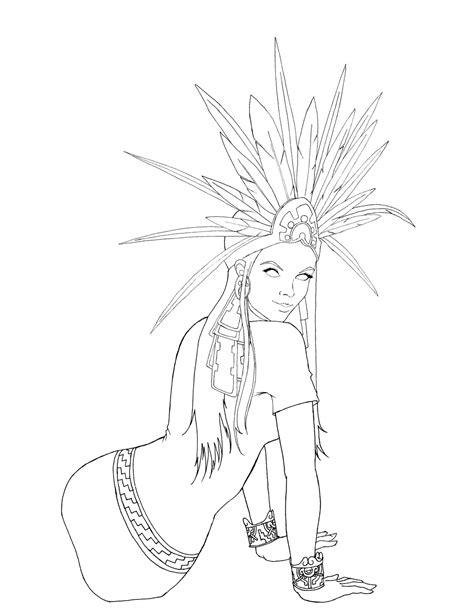 mi codice mujer azteca con penacho
